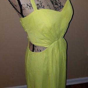 Citron Cut-Out Maxi Dress w/ Slit, BCBG